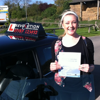 Image of Amber Doyle with pass certificate - Revolution Driving School
