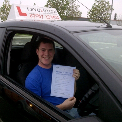 Image of Anthony Feery with pass certificate - Revolution Driving School