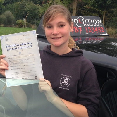 Image of Charmane Fitch with pass certificate - Revolution Driving School