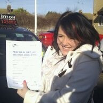 Image of Charna Demant with pass certificate - Revolution Driving School