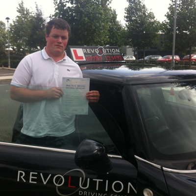 Image of Chris Huntley with pass certificate - Revolution Driving School