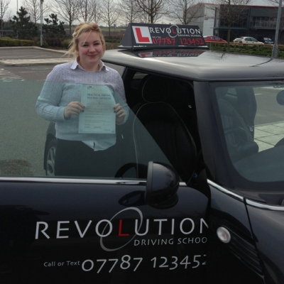 Image of Danielle Juden with pass certificate - Revolution Driving School