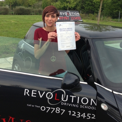 Image of Frankie Purchla with pass certificate - Revolution Driving School