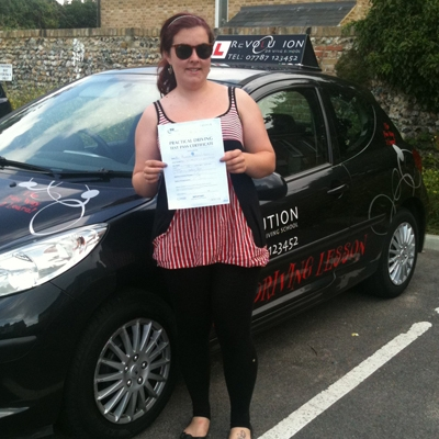 Image of Hannah Winbush with pass certificate - Revolution Driving School