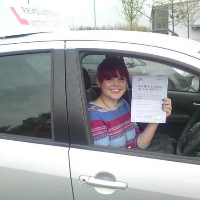 Image of Isobel Plewis with pass certificate - Revolution Driving School