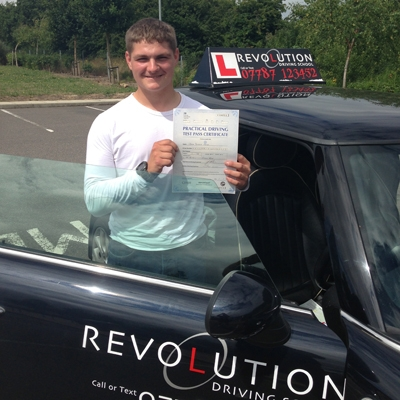 Image of Jed Moys with pass certificate - Revolution Driving School