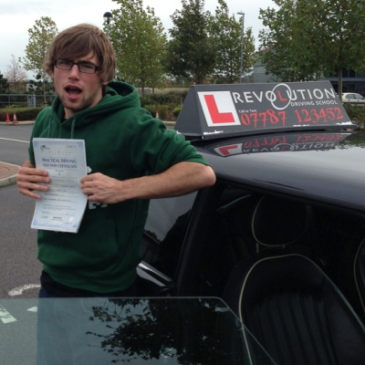Image of Kurt King with pass certificate - Revolution Driving School