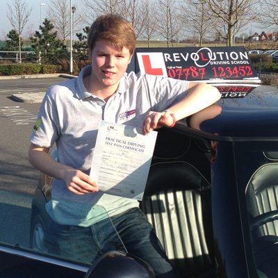 Image of Peter Addisson with pass certificate - Revolution Driving School