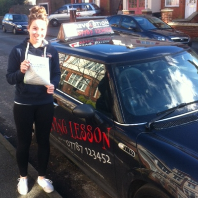 Image of Samantha Friend with pass certificate - Revolution Driving School