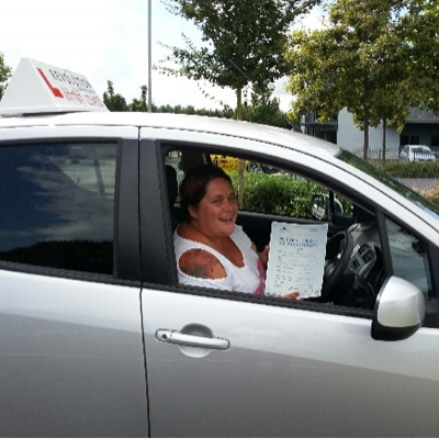 Image of Taz Green with pass certificate - Revolution Driving School